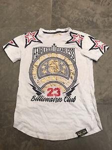 Switch Remarkable Boys Sz Medium 10/12 White Gold T shirt 23 Billionaires Club