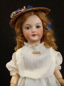 "Cabinet size 17"" antique bigger Bleuette sister doll Bebe SFBJ, Unis France 301"