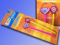 KID's World Bleistift Set mit Radierer, 2 Stück Bleistift mit Motiv Radiergummi