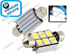 Number Plate LED Bulbs (Pair of 6 SMD LED) Bright Xenon White