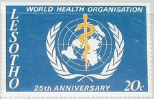 LESOTHO 1973 131 25th Ann WHO World Health Org. Medizin Medicine Emblem MNH