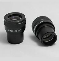 Microscope Eyepiece Lens WF10X 22MM Diopter Adjustable High Eye point Pack of 2