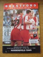 17/05/1995 Play-Off Semi-Final Division 2: Brentford v Huddersfield Town  . Item