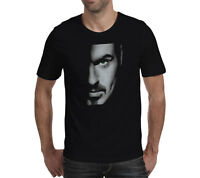 George Michael Older Wham unisex T Shirt music women men gift black tee top