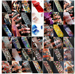 Nail Transfer Foil, Nail Foils, Galaxy, Hearts, Flowers, Leopard, UK Seller