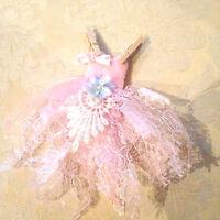 Pink Fairy washing line tiny fairy dress fairy doors accesories minature