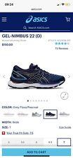 ASICS GEL-Nimbus 22 Women's Running Shoes Grey Floss/Peacoat Size US 7 Wide(D)