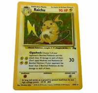 Raichu Pokemon Card 14/62 Holo Rare Vintage Wotc Holo Wizards Light Play Tcg