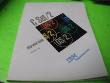 IBM OS/2 C SET/2 MIGRATION GUIDE VERSION 1.00