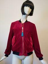 Velvet zip-front jacket Size M