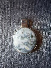 Sterling Silver 925 and Ocean Jasper Pendant (P39)