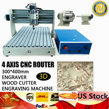 400w 4 Axis Cnc 3040 Router Desktop Engraver Engraving Milling Machine 3d Cutter