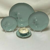 FRANCISCAN SILVER PINE 5 PIECE PLACE SETTING FREE SHIPPING DINNER SALAD PLATE