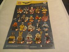 Lego The Batman Movie series Limited Edition Minifigures 71017 Full Set of 20