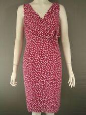 Petite Spotted V Neck Dresses for Women