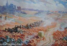 Gustav Adolf Closs Infanterie 35. Batallion 1. WK Aquarell signiert Militaria