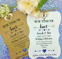 Tying The Knot Rustic Wedding Invitation, Vintage Wedding Invitation + RSVP