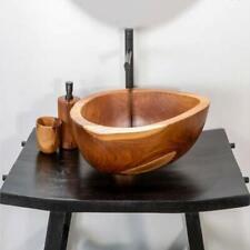 Lavabo da appoggio in radice di teak lavandino bagno legno dimensioni 50x39xH15