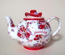 Paul Cardew Red Hat Society Large PINK CHINTZ Tea Pot - Friendship Sisterhood