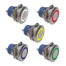 Edelstahl Drucktaster LED Klingelknopf Hupenknopf  Edelstahl Wasserdicht (004)
