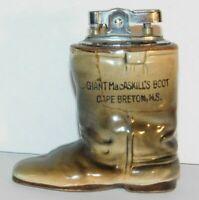 Vtg Boot Lighter Giant MacAskill Cape Breton refillable Souvenir Japan