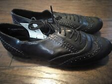 Oxford black flats xhilaration 8.5 shoes fall 8 1/2 work shoes new lace oxfords