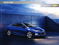2016 Chevrolet Cruze 32-page Original Car Sales Brochure Catalog