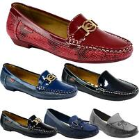 Womens Ladies Flat Low Heel Smart Casual Slip on Moccasins Comfort Comfy Shoes