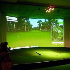 New Indoor Golf Ball Simulator Impact Display Projection Zebra Screen 300*200CM