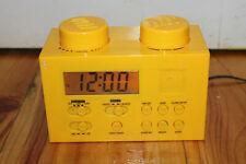 Lego Brick Alarm Clock AM/FM Portable Radio Yellow Excellent