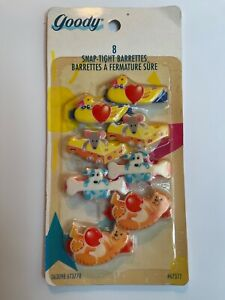 8 VINTAGE GOODY girls kids RARE SNAP TIGHT BARRETTES NEW NOS NIB PACKAGE
