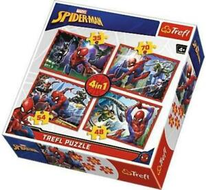 Trefl 4 in 1 Spiderman  Jigsaw Puzzle 35-48-54-70 Pieces 4+ Game