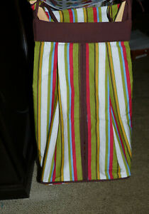 Trend Lab ABC Dr. Seuss Green/White/Brown Stripes Baby Nursery Diaper Stacker