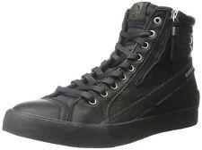 Diesel D Velows D String Plus Black Mens Leather Hi Trainers