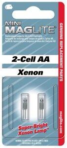 MagLite LM2A001 Ersatzlampe für Maglite Mini 2 Cell Taschenlampe 2er Pack