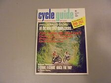 MARCH 1967 CYCLE GUIDE MAGAZINE,FIRST EVER ISSUE VOL.1#1 ISSUE 67 SPORT CYCLES,