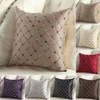 Multicolored Plaids Throw Pillow Case Square Cushion Cover Sofa Bed Decor AY