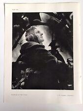 WARRIOR of the STARS, Pilot, 1945 Vintage RP Print, J. W. Underell, Penzance