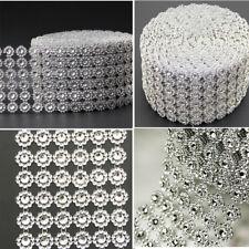 Diamond Mesh Wrap Ribbon Roll Rhinestone Wedding Floral Decor Party Supplies New