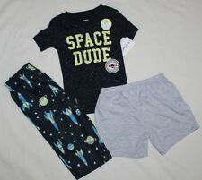 NEW~CARTERS TODDLER BOY 3 PIECE SPACE DUDE  PAJAMAS SIZE 12 MONTHS