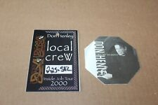 Don Henley - 2 x Backstage Pass - Lot # 4 - Free Postage - Eagles