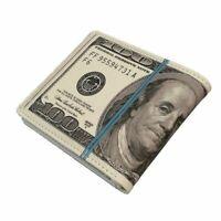 Cute Bifold 100 US Dollar Money Purse Novelty Gift Male Men Wallet Women Purse