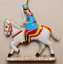 Schaukelpferd Höhe 27cm Länge 37cm Metallfigur Pferd Mit Steigbügeln