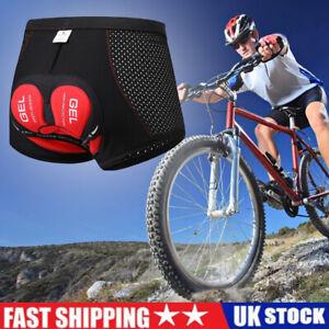 Men Cycling Underwear Gel Padded Bicycle Shorts MTB Mountain Bike Short Pant UK