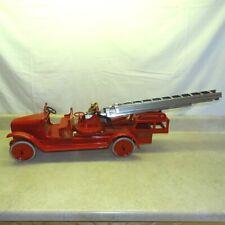 Vintage Buddy L Fire Aerial Fire Ladder Truck, Pressed Steel, 205-B Restored
