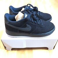 Nike Air Force 1 LV8 Style (BG) Athletic Sneakers Black Cord Boys Size 6.5Y NEW