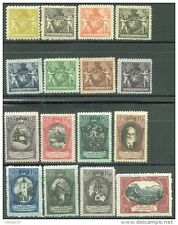 Liechtenstein, 1921, Sc 54-69, Views of the Land, full set, mint as per scan,HCV