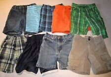 Lot of 9 pairs of boys shorts, size 3T.  Plaid, jean.  ~Fast Shipping~