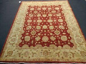 "6'5""x8'2"" Pakistani Peshawar Chobi Rug carpet,Handmade,Veg Dye,100% Wool 6x8"