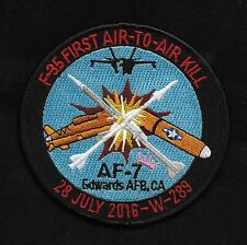 F 35A Lightning II First Air-To-Air Kill AF-7 Edwards AFB Military Patch
